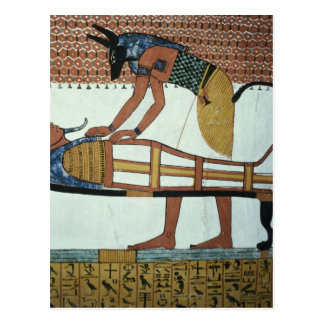 Anubis and a Mummy, from the Tomb of Sennedjem Postcard