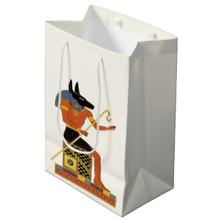 Anubis Egyptian Folk Art Medium Gift Bag