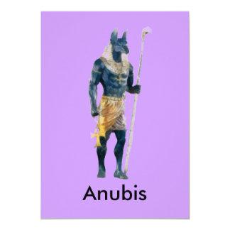 Anubis Egyptian God 13 Cm X 18 Cm Invitation Card