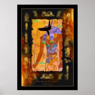 ANUBIS Egyptian God Art Poster