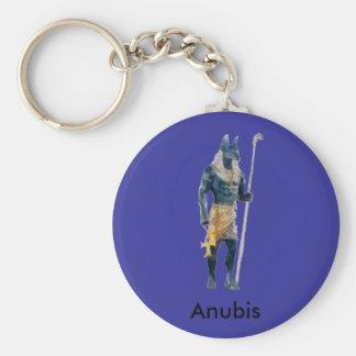 Anubis Egyptian God Basic Round Button Key Ring