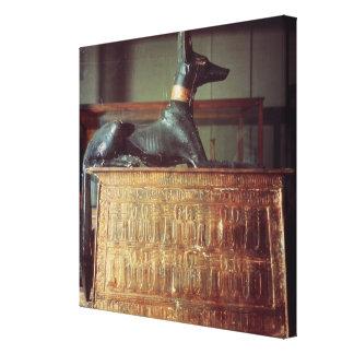 Anubis, Egyptian god of the dead Canvas Print