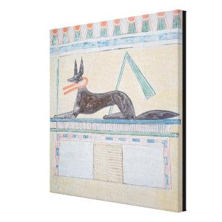 Anubis, Egyptian god of the dead Canvas Prints