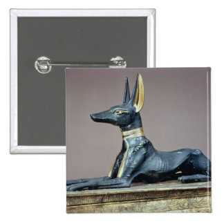 Anubis, Egyptian god of the dead from a chest Pinback Buttons