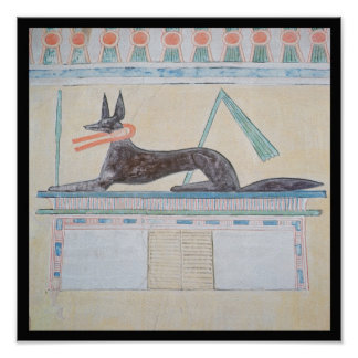 Anubis, Egyptian god of the dead Poster