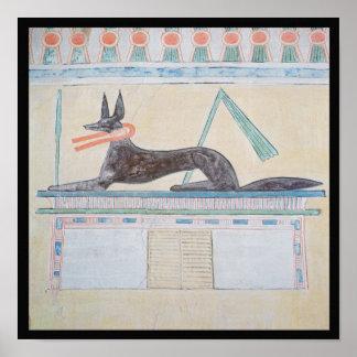 Anubis, Egyptian god of the dead Print