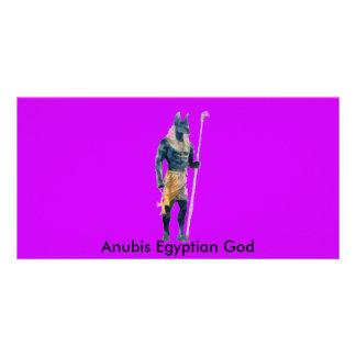 Anubis Egyptian God Photo Card
