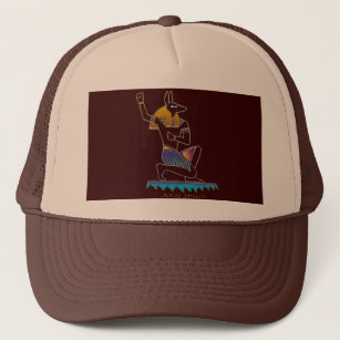 a4676ccff0e ANUBIS Egyptian God Trucker Hat