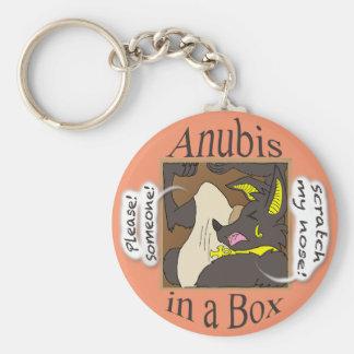 Anubis In a Box (Closed Eyes) Key Ring