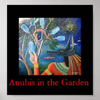Anubis in the Garden Poster