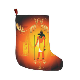 Anubis Large Christmas Stocking