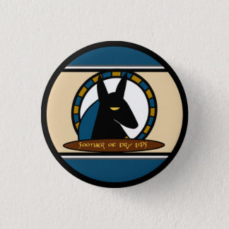 Anubis Lip Balm 3 Cm Round Badge