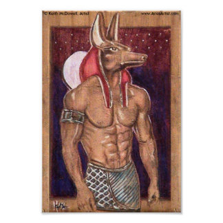 Anubis on wood: www.AriesArtist.com Poster