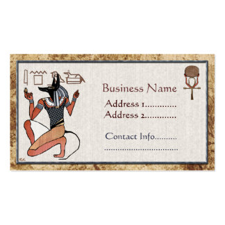 Anubis The Guardian Egyptian Business Card Template