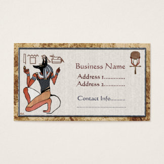 Anubis The Guardian Egyptian Business Card