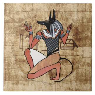 Anubis The Guardian Egyptian Tile