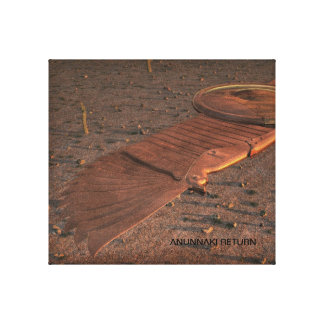 Anunnaki Return Winged Disc Canvas Print