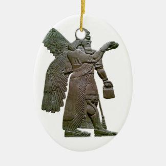 Anunnuki Ancient Sumerian Alien Extraterrestrial Ceramic Oval Decoration