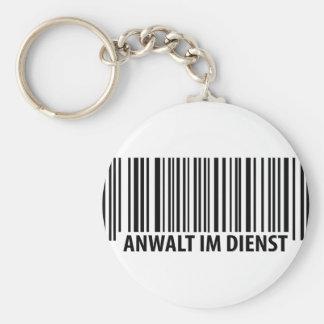 Anwalt im Dienst Barcode label icon Key Ring