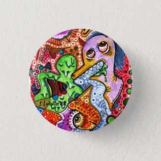 """Anxiety"" 3 Cm Round Badge"
