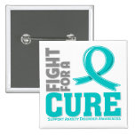 Anxiety Disorder Fight For A Cure 15 Cm Square Badge