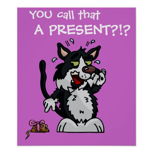 Anxious Cat Poster
