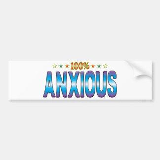 Anxious Star Tag v2 Bumper Stickers