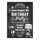 ANY AGE Chalkboard Retro Birthday Party Invitation