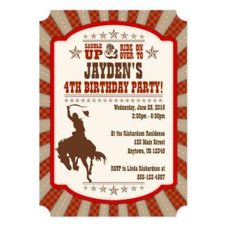 Any Age Cowboy Rodeo Birthday Party Invitation