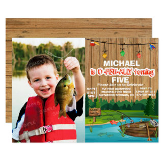 ANY AGE - Gone Fishing Birthday Invitation
