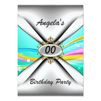 """Any birthday party Invitation sixty 4.5"""" X 6.25"""" Invitation Card"""