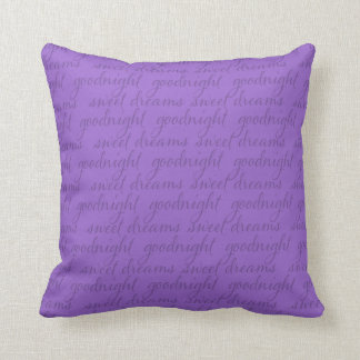 Any Color Background Goodnight Sweet Dreams Cushion