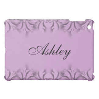 Any Color Background with 3D Look Damask Border iPad Mini Covers