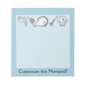 Any Color Customizable Seashells Notepad