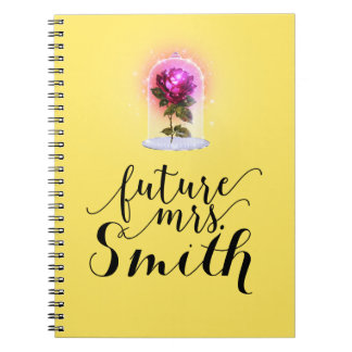 ANY COLOR Enchanted Storybook Red Rose Future Mrs. Notebook