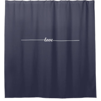 Any Color Love Line Shower Curtain