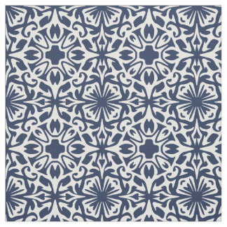 Any Color Mediterranean Spanish Tile Pattern Fabric