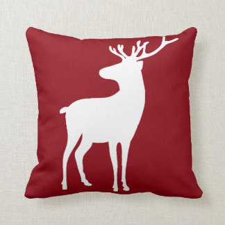 Any Color Monogram Reindeer 2 Sided Pillow