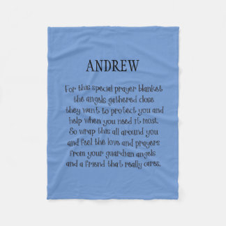 Any Color Personalized Print Prayer Blanket