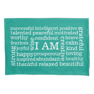 Any Color Positive Self Image Daily Affirmations Pillowcase
