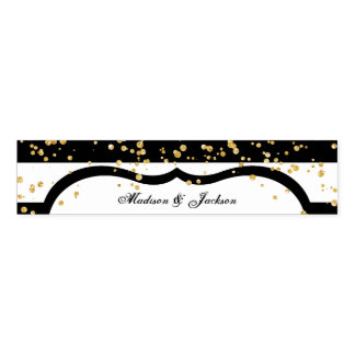 Any Color Stripes & Gold Confetti Wedding Monogram Napkin Band