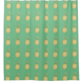 Any Color Tropical Pineapple Shower Curtain