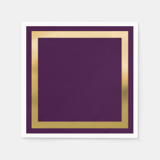 "Any Color with ""Gold"" Border Disposable Serviettes"