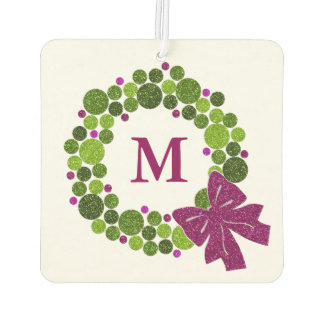 Any Color with Green and Pink Ornament Wreath