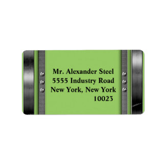 Any Color With Metal Border With Bolts Labels