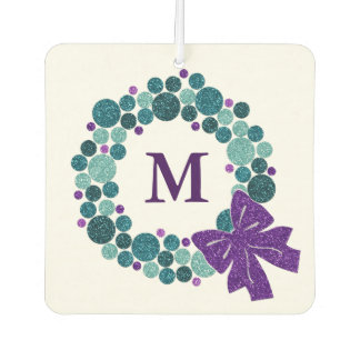 Any Color with Teal and Purple Ornament Wreath