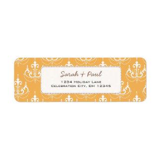Any Custom Wedding Color Chandeliers Return Address Label