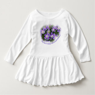 """""""Any day is better with purple flowers"""" dress"""