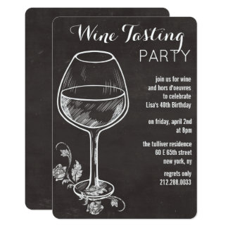 ANY EVENT - Chalk Wine Glass Invitation