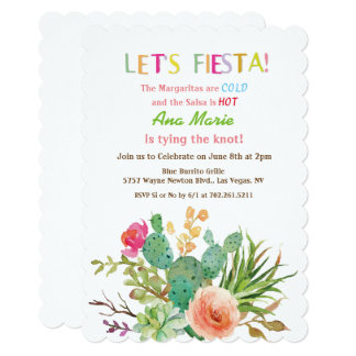 ANY EVENT - Fiesta Floral Cactus Invitation